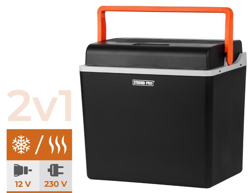 Autochladnička 30 lit POLYSTYREN izolácia Strend Pro, 2v1,230V/12V