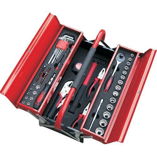 """Sada náradia Strend Pro S264, 64 dielna, v kovovom kufri, 1/2""""+1/4"""""""