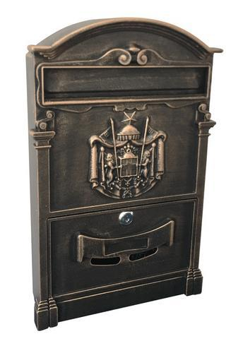 Poštová schránka antik ALU, hliníková, 410x255x90 mm