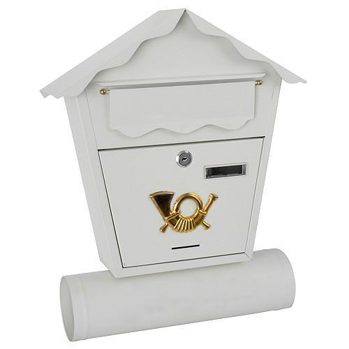 Poštová schránka bielá NESTOR, 440x370x100 mm