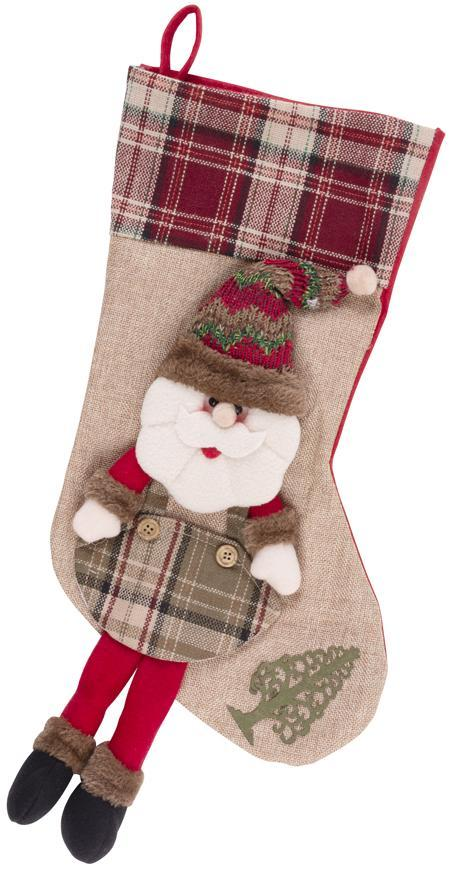 Dekorácia Ponožka Santa MagicHome Vianoce, , 50 cm